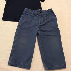 Polo boys outfit in blue size 12 months